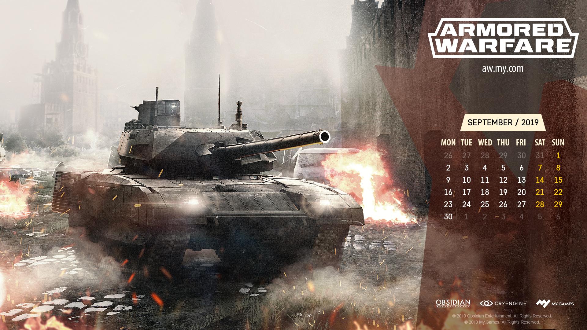 September Calendar | Armored Warfare - Official Website