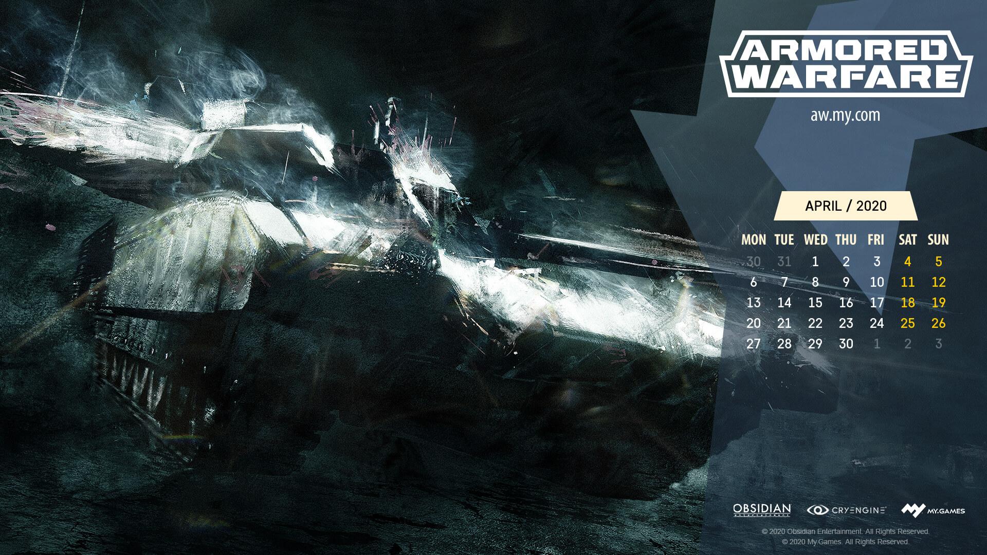 April Calendar Armored Warfare Official Website